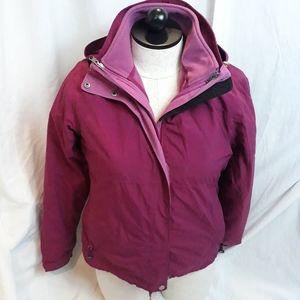 L. L. Bean 3 in 1 hooded coat jacket